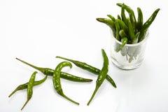 Πράσινο πιπέρι τσίλι Στοκ εικόνα με δικαίωμα ελεύθερης χρήσης