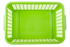 πράσινο πλαστικό καλαθιών στοκ φωτογραφίες