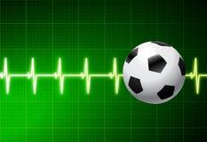 πράσινο ποδόσφαιρο σφυγμ Στοκ Φωτογραφίες