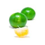 Πράσινο πορτοκάλι Στοκ Φωτογραφίες