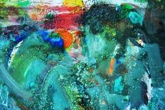 Πράσινο πορτοκαλί χρώμα watercolor, μαλακά χρώματα μιγμάτων, υπόβαθρο σημείων ζωγραφικής, ζωηρόχρωμο αφηρημένο υπόβαθρο watercolo Στοκ φωτογραφία με δικαίωμα ελεύθερης χρήσης