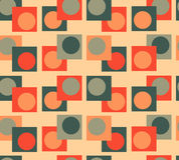 Πράσινο πορτοκαλί άνευ ραφής υπόβαθρο γεωμετρίας Στοκ εικόνες με δικαίωμα ελεύθερης χρήσης