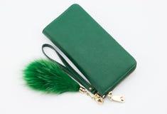 Πράσινο πορτοφόλι Στοκ εικόνα με δικαίωμα ελεύθερης χρήσης