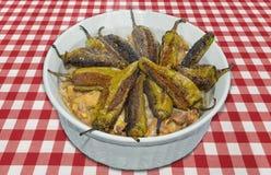 Πράσινο πρόβειο κρέας τσίλι Gosht Mirch Στοκ Εικόνα