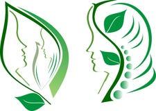 Πράσινο πρόσωπο Στοκ Εικόνες
