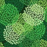 πράσινο πρότυπο άνευ ραφής Στοκ Φωτογραφία
