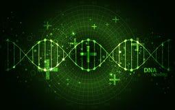Πράσινο πρότυπο επιστήμης, υπόβαθρο μορίων DNA ελεύθερη απεικόνιση δικαιώματος