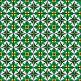 πράσινο πρότυπο λουλουδιών άνευ ραφής Στοκ Φωτογραφία