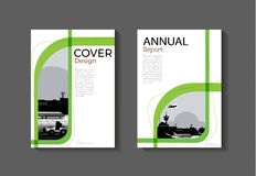 Πράσινο πρότυπο φυλλάδιων βιβλίων κάλυψης κάλυψης αφηρημένο σύγχρονο, desig απεικόνιση αποθεμάτων