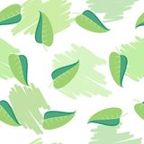 πράσινο πρότυπο φύλλων άνε&upsilo Διανυσματική απεικόνιση