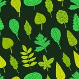 πράσινο πρότυπο φύλλων άνευ ραφής διανυσματική απεικόνιση