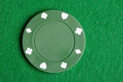 πράσινο πόκερ τσιπ Στοκ Εικόνες