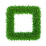Πράσινο πλαίσιο χλόης με το κεντρικό αντίγραφο-διάστημα στοκ εικόνα