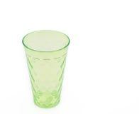 πράσινο πλαστικό φλυτζαν&io στοκ εικόνες