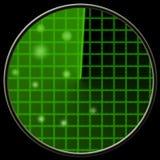 Πράσινο ραντάρ Στοκ εικόνα με δικαίωμα ελεύθερης χρήσης