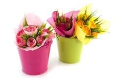 πράσινο ροζ κάδων Στοκ φωτογραφία με δικαίωμα ελεύθερης χρήσης
