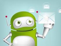 Πράσινο ρομπότ ελεύθερη απεικόνιση δικαιώματος