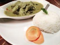 Πράσινο ρύζι κάρρυ Στοκ εικόνα με δικαίωμα ελεύθερης χρήσης