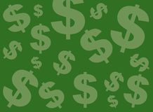 πράσινο σημάδι δολαρίων αν&a Στοκ φωτογραφία με δικαίωμα ελεύθερης χρήσης
