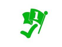 Πράσινο σημάδι νικητών διανυσματική απεικόνιση