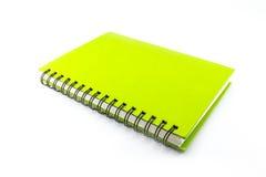 Πράσινο σημειωματάριο στοκ εικόνες