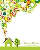 πράσινο σπίτι διανυσματική απεικόνιση