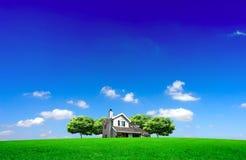πράσινο σπίτι Στοκ Φωτογραφία