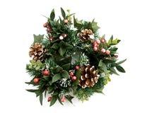 πράσινο στεφάνι Χριστουγέ& Στοκ Φωτογραφίες