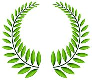 πράσινο στεφάνι δαφνών Στοκ Εικόνες
