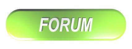 Πράσινο στρογγυλευμένο ΦΟΡΟΥΜ κουμπιών ώθησης ορθογωνίων - τρισδιάστατη απόδοση ελεύθερη απεικόνιση δικαιώματος