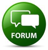 Πράσινο στρογγυλό κουμπί φόρουμ απεικόνιση αποθεμάτων