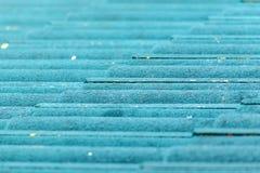 Πράσινο συγκεκριμένο κεραμίδι στεγών Στοκ φωτογραφία με δικαίωμα ελεύθερης χρήσης