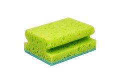 Πράσινο σφουγγάρι τριψίματος Στοκ Εικόνες
