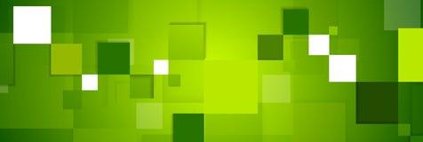Πράσινο σχέδιο εμβλημάτων Ιστού τεχνολογίας τετραγώνων αφηρημένο διανυσματική απεικόνιση