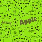 Πράσινο σχέδιο με τα μήλα Στοκ Εικόνα