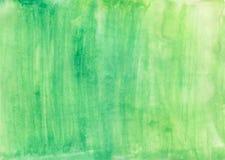 Πράσινο σχέδιο χεριών υποβάθρου watercolor Πράσινο υπόβαθρο Watercolor Στοκ Εικόνες