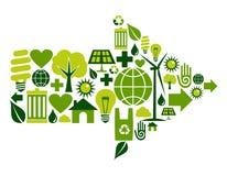 πράσινο σύμβολο εικονιδ Στοκ φωτογραφίες με δικαίωμα ελεύθερης χρήσης
