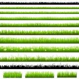 πράσινο σύνολο χλόης διανυσματική απεικόνιση