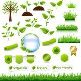 Πράσινο σύνολο Eco Στοκ φωτογραφία με δικαίωμα ελεύθερης χρήσης