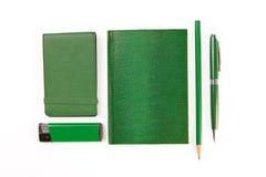 Πράσινο σύνολο χαρτικών Στοκ Φωτογραφία