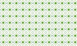 Πράσινο τετραγωνικό σχέδιο λουλουδιών Στοκ φωτογραφία με δικαίωμα ελεύθερης χρήσης