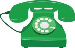 πράσινο τηλέφωνο αναδρομ&iota Στοκ Εικόνες