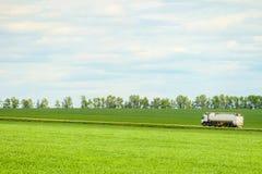 Πράσινο τοπίο με το δρόμο επαρχίας στοκ εικόνες με δικαίωμα ελεύθερης χρήσης