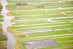 Πράσινο τοπίο με το νερό, Twiske Στοκ Φωτογραφίες