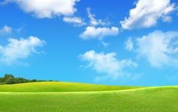 πράσινο τοπίο πεδίων στοκ φωτογραφία