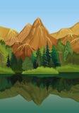 πράσινο τοπίο Απεικόνιση αποθεμάτων