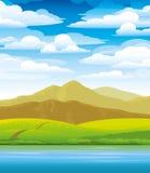 πράσινο τοπίο Ελεύθερη απεικόνιση δικαιώματος
