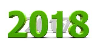 Πράσινο το 2018 έρχεται ελεύθερη απεικόνιση δικαιώματος