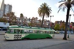 Πράσινο τραμ στο SAN Franciso, Καλιφόρνια Στοκ φωτογραφία με δικαίωμα ελεύθερης χρήσης
