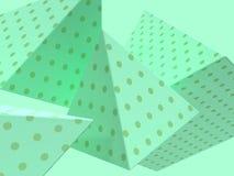 Πράσινο τρισδιάστατο δίνοντας αφηρημένο υπόβαθρο ομάδας μετεωρισμού μορφής σκηνής στενό επάνω γεωμετρικό στοκ εικόνες με δικαίωμα ελεύθερης χρήσης